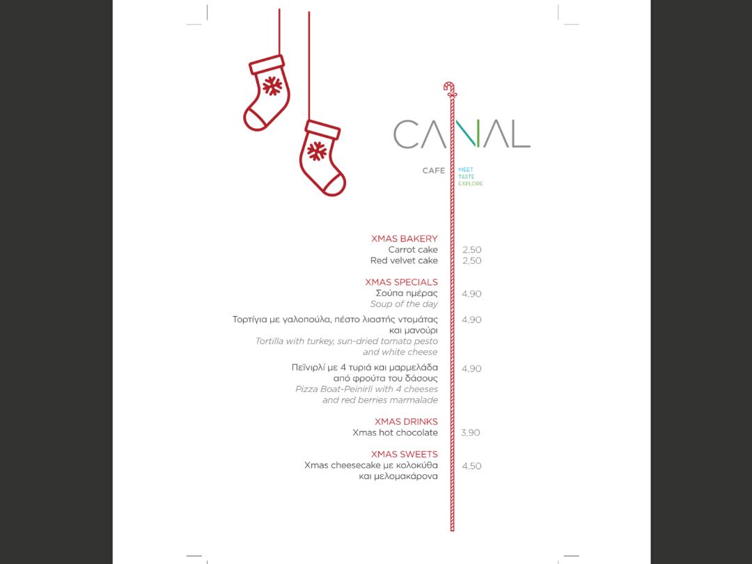 X-mas menu at Canal